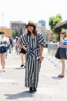 Pin for Later: Die frischesten Street Style Inspirationen des Sommers aus den Modemetropolen Street Style Juni 2015 Fashion Week Mailand