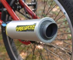 Turbospoke Bicycle Exhaust System | DudeIWantThat.com