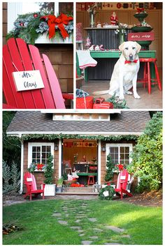 Santa's workshop was the inspiration for these Christmas ideas by stylist Melanie Thompson of My Sweet Savannah. See more decor tips that Mr. Claus himself would approve.