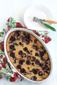 I was never the biggest fan of eggs...except when it came to Clafoutis. I can't eat eggs now and boy do I miss a good Clafouti. If you're an egg eater, let me live vicariously! GF Cherry Clafoutis