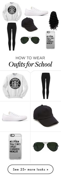 """school outfit"" by jocelyn-bean on Polyvore featuring Polo Ralph Lauren, Converse, rag & bone, Ray-Ban and Casetify"