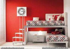 DORMITORIOS ROJOS : Dormitorios: Fotos de dormitorios Imágenes de habitaciones y recámaras, Diseño y Decoración