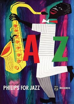 Cornelius van Velsen, Philips for Jazz, 1956  Advertisement for Phillips Records, where you find all the best jazz.