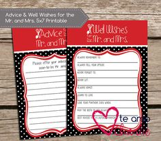 Advice & Well Wishes for the Mr. and Mrs Wedding by TeAmoCharlie, $5.00