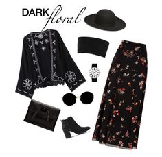 """Violet"" by maeabuan0803 ❤ liked on Polyvore featuring Escalier, RED Valentino, Calvin Klein Collection, Office, Steve Madden, Miu Miu, Rosendahl, Dr. Martens, fashionset and darkfloral"