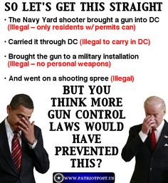 gun control laws. Stupid fucking politicians! It's not about gun control, it's about people control!! With out our guns it's easier for our politicians to control us. Don't think that because we live in America it can't happen!!