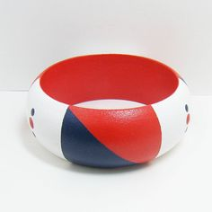 Bracelet Wooden Bangle Hand Painted Size by paintingfromtheheart, $20.00