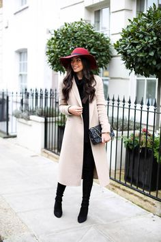 Camel Coat in Knightsbridge