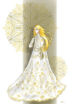 """Glorfindel bare a mantle so broidered in threads of gold that it was diapered with celandine as a field in spring…"" (The Fall of Gondolin)"