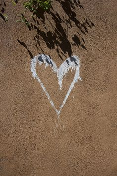 Heart on Stucco by madscientist