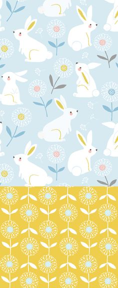 wendy kendall designs – freelance surface pattern designer » bunny meadow