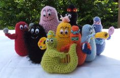 crochet barbapapa: I used to watch this show when I was little.  It was very odd, if I remember correctly