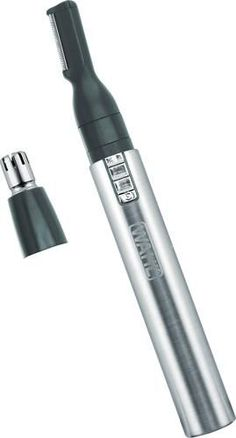 Remove body hair quickly with this two-in-one Wahl pen hair trimmer. Its rotary head provides effective cutting for the nose and ears, and its reciprocating head lets you precisely detail facial or bikini areas. Style your eyebrows easily with the reciprocating head of this stainless steel Wahl pen hair trimmer. #LegHairRemoval Chin Hair Removal, Permanent Facial Hair Removal, Underarm Hair Removal, Electrolysis Hair Removal, Remove Unwanted Facial Hair, Hair Removal For Men, Hair Removal Methods, Unwanted Hair, Laser Hair Therapy