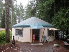 Ditch the poles this summer for a yurt---a great family alternative to traditional tent camping.