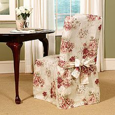 Country Rose Dining Chair Slipcover (Set of 4)