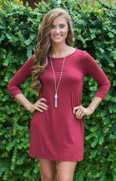 Our game day best-seller is here and back in a new color for the new season - Maroon! A stunning, rich color with a flattering fit... what could be better?  Its material is super comfy and you will be so happy wearing it watching your team take the win!