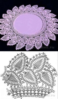 Trendy Ideas For Crochet Lace Edging Pattern Haken Col Crochet, Crochet Doily Diagram, Crochet Dollies, Crochet Lace Edging, Crochet Collar, Crochet Doily Patterns, Thread Crochet, Crochet Designs, Crochet Stitches