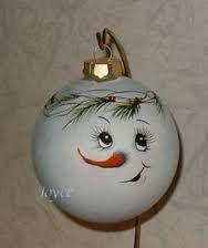 Image result for christmas ornaments painted