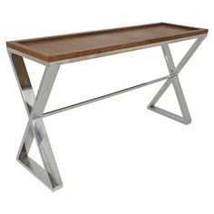 Criss Cross Two Tone Console Table
