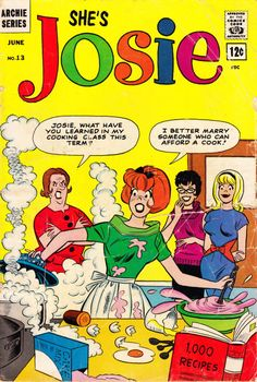 She's Josie Nice Tough Dan DeCarlo Silver Age Archie Teen 1964 Higher Grade. Nice gloss tight and complete. Archie Comics Characters, Archie Comic Books, Old Comic Books, Vintage Comic Books, Vintage Comics, Comic Book Covers, Comic Book Characters, Vintage Posters, Archie Comics Riverdale