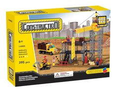 All Brictek Sets are Lego®/Mega Bloks® Fully Compatible.  Create your own construction site with this 395 pieces building set. Includes scaffolding's, a crane, a truck and a small excavator. Comes with 4 Mini-Figurines. Fully compatible with leading brands.