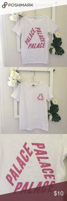 NWOT PALACE T-shirt Brand new, Palace Skateboard shirt, small logo on the upper left and large logo on the back. Rare font. (Non authentic) PALACE Tops Tees - Short Sleeve