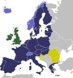 Schengen Area: All four European Free Trade Association (EFTA) member states – Iceland, Liechtenstein, Norway, and Switzerland – have signed the Schengen Agreement, even though they are outside the EU. In addition, three European microstates – Monaco, San Marino, and the Vatican City – can be considered as de facto within the Schengen Area (labels are shown on wiki)