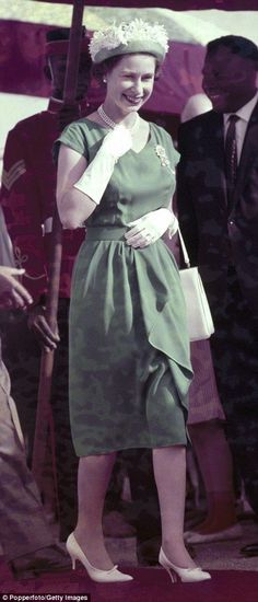 Ghana 1961, The Queen at Tamale Airport on 13th November 1961.