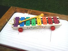 1964 Vintage Fisher Price Xylophone 870 Pull-A-Tune Wooden Toy complete by Barostores on Etsy
