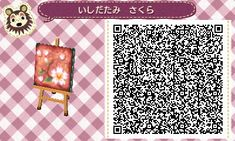 Animal Crossing: New Leaf & HHD QR Code Paths Motif Acnl, Animal Crossing Hair, Tumblr App, Animal Games, Qr Codes, Flower Band, Acnl Paths, New Leaf, Passport