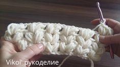 Вяжем крючком шарф снуд воздушными столбиками