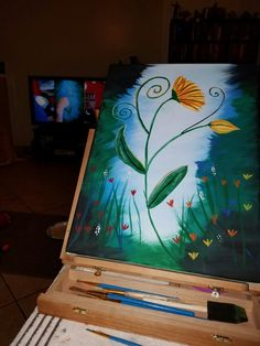 The Flower ... utube step by step instruction video  (paint with Jane)