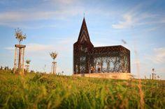 See thru Church Hasselt Belgium