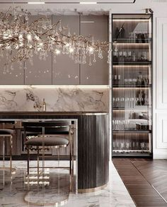 Luxury Kitchen Design, Kitchen Room Design, Home Room Design, Dream Home Design, Luxury Kitchens, Home Decor Kitchen, Interior Design Kitchen, Living Room Designs, House Design