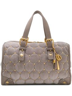 Shop Juicy Couture quilted stud tote bag