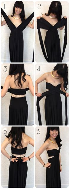 Tutorial: How to wrap a sweetheart cutout style with a convertible dress! Get the fashionable cutout look that still allows you to wear a strapless bra underneath!