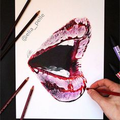 Realistic mouth created with prismacolor and promarker. I hope you like it  #art #artistic #artwork #artoftheday #arts_help #nawden #worldofartists #art_spotlight #sketch_daily #drawing #creative #lipsandeyes188k