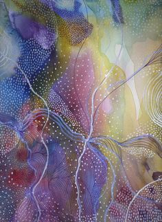 ARTFINDER: Under the Stars by Helen Wells - This watercolour painting is called Under the Stars. It is a positive and colourful abstract watercolour painting, inspired by the the time of day when sta...