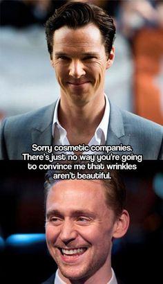 I love British men. Alex Turner, Tom Hiddleston, Benedict Cumberbatch, David Beckham, and Matt Smith to name a few.