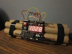 Defusable Bomb Alarm Clock - What a terrifying alarm clock. I'll never be late for an appointment ever again.