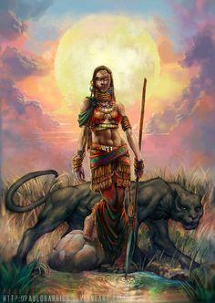 In Yoruba mythology, Oya (Alternative spellings: Oiá, Iansã, Iansan), is… Black Love Art, Black Girl Art, Art Girl, Warrior Queen, Warrior Princess, African American Art, African Art, African Beauty, Character Inspiration