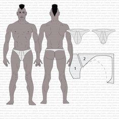 Transformaciones del slip masculino: cómo transformar el patrón base de un slip en los otros íntimos de la misma familia