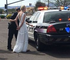 'DUI Bride' says police version of her arrest is a 'hoax'; police stand by their story Wedding Ceremony, Wedding Gowns, Wedding Day, Police, Drunk Driving, Funny Wedding Photos, Funny Meme Pictures, Hilarious Photos, Under The Influence