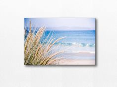 NAUTICAL DECOR / COASTAL CANVAS WRAP / BEACH PHOTOGRAPHY CANVAS    Title: Afternoon at the Beach  Size: Please select a size from the drop down