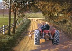 MEMORY LANE by Dallen Lambson (Coming soon) #tractor #wildlife #art #family