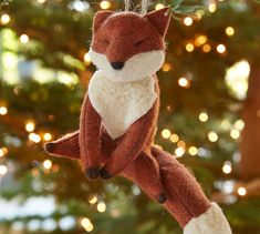 Felt Fox Ornament | Pottery Barn