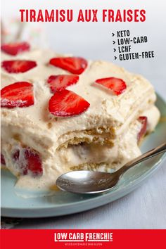 A tiramisu low in carbohydrates without added sugar but so good! Diabetic Recipes, Low Carb Recipes, Tiramisu Cake, Easy Cake Recipes, Low Carb Diet, Yummy Food, Healthy Food, Food And Drink, Breakfast