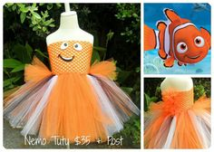 Just keep swimming.. just keep swimming!!    Nemo tutu is made of a double layer of tulle with Face motif.    Sizes :  0-2yrs  2- 6yrs    This tutu is made to order with a 3-4 week turn around depending on how many customs are on my books at the time of ordering.  if you require this by a certain date please let me know.    Booti Tutu's are made from the softest tulle and come in a rainbow of beautiful colours.  Each standard size Tutu will fit from around 2 to 6 years or more depending on…