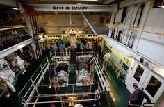 The engine room on the William A. Irvin.