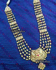 Rani Haar #traditonaljewellery #silverjewellery #handcraftedtoperfection #weddingjewellery #nofilterneeded Jewelry Design Earrings, Gold Earrings Designs, Gold Jewellery Design, Gold Designs, Necklace Designs, Jewlery, Real Gold Jewelry, Fashion Jewelry, Gold Fashion